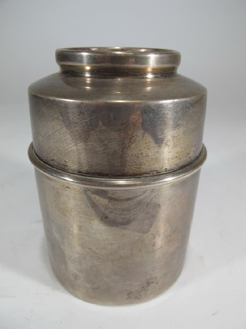 Vintage Cartier sterling jar with a Napoleon coin on