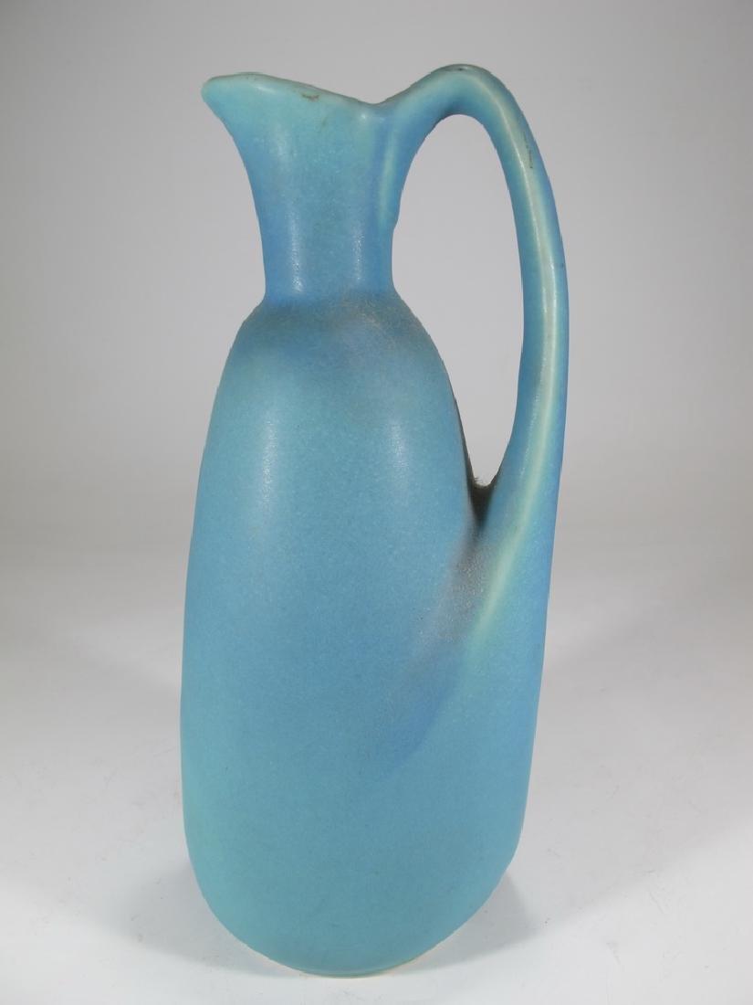 Van Briggle blue pottery jug, signed