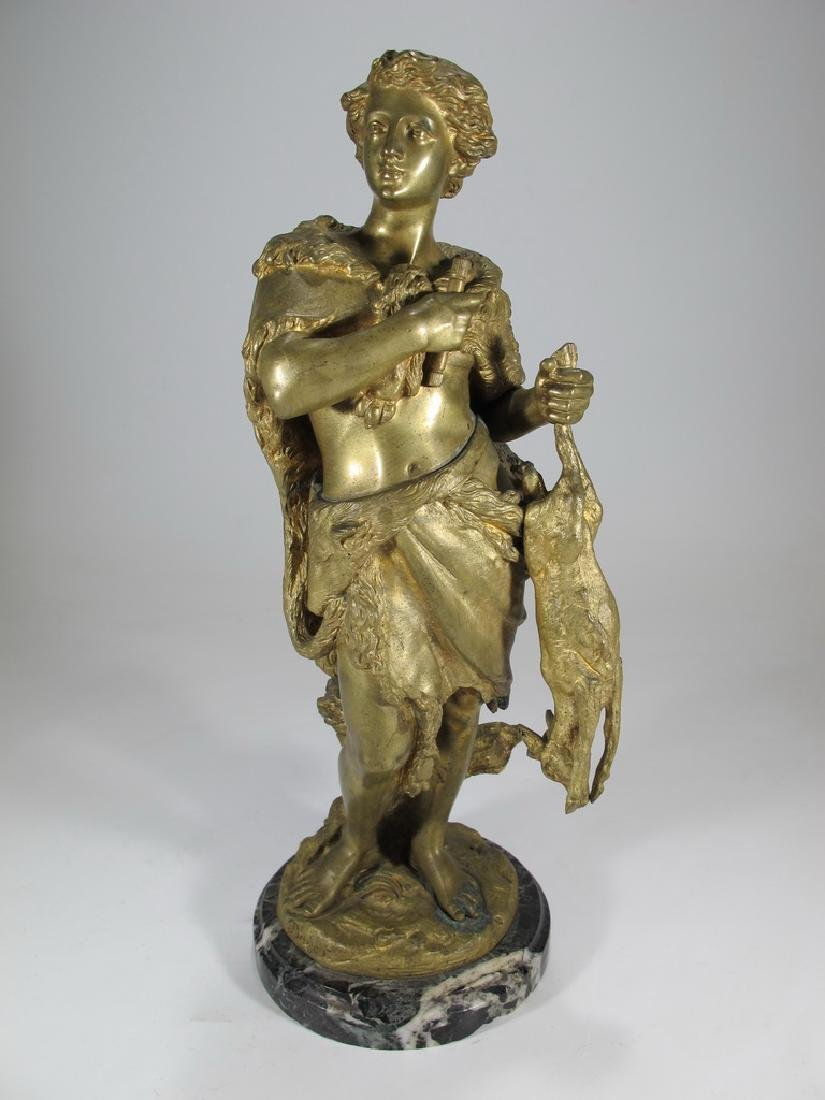 Signed Boyer antique French bronze sculpture