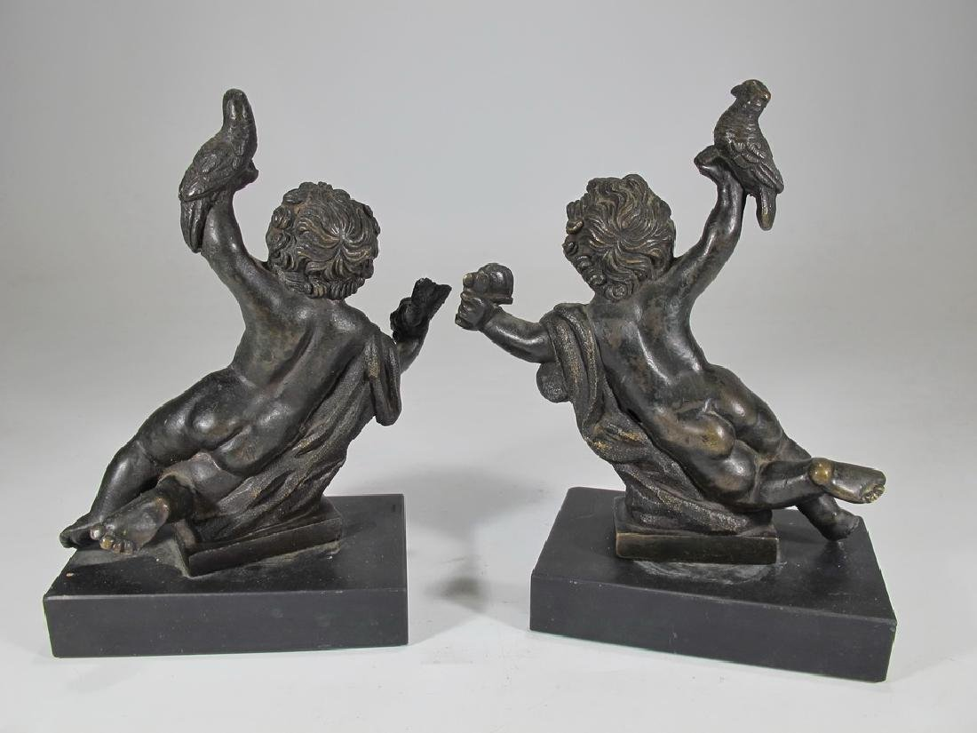 19th C French pair of bronze sculptures - 4