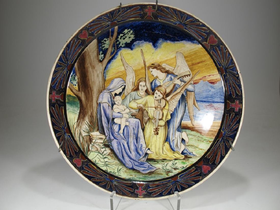 Rare antique probably Italian faience plate