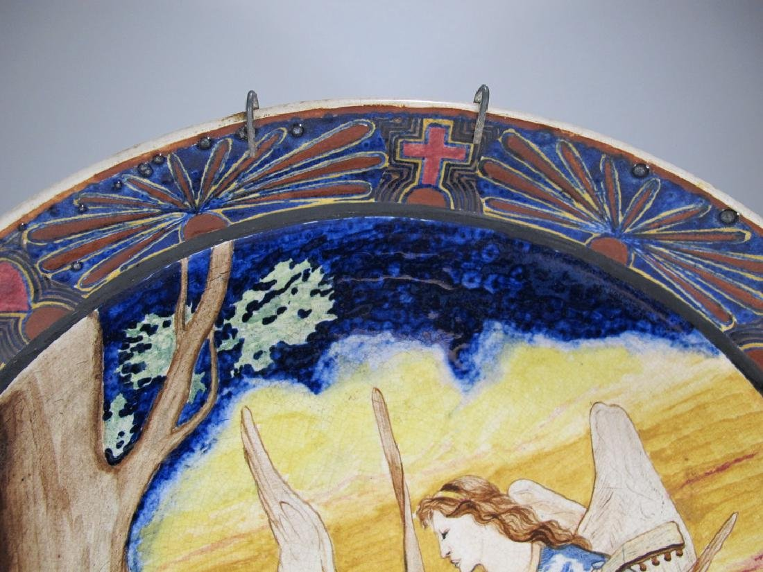 Rare antique probably Italian faience plate - 3