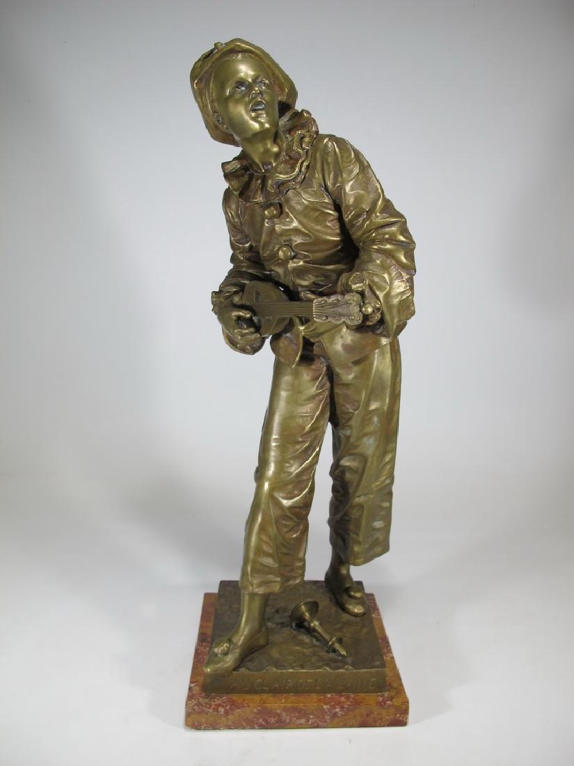 "Eutrope Bouret (1833-1906) Bronze ""Au claire de la"