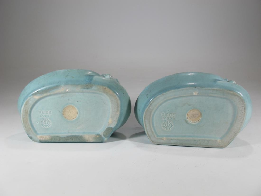 1926 Pair of Rookwood Pottery Water Lily Bookends - 5