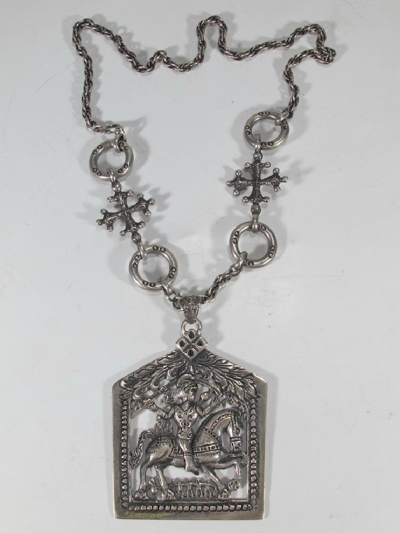 Peruzzi, Boston sterling Saint Paul necklace
