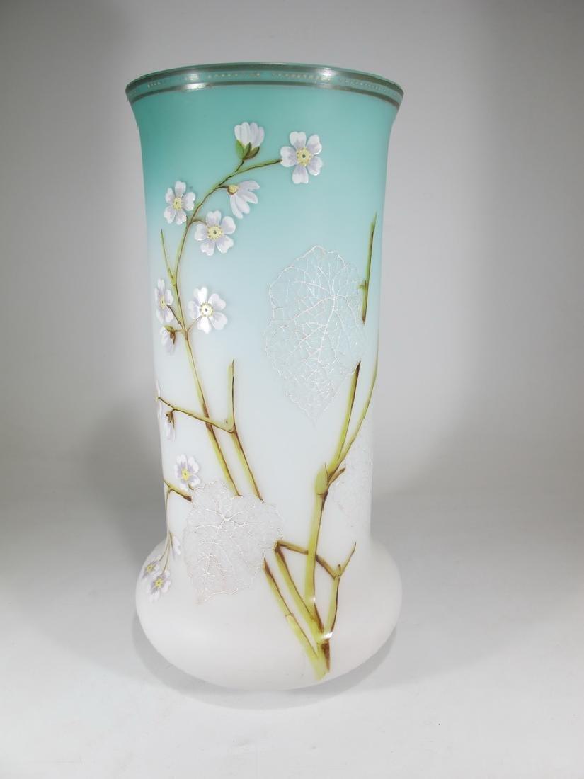 Antique European opaline flower vase