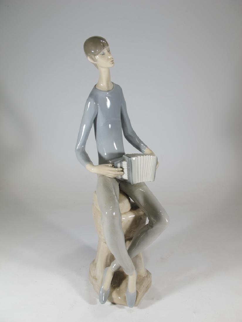 Lladro Nao man playing accordion porcelain statue