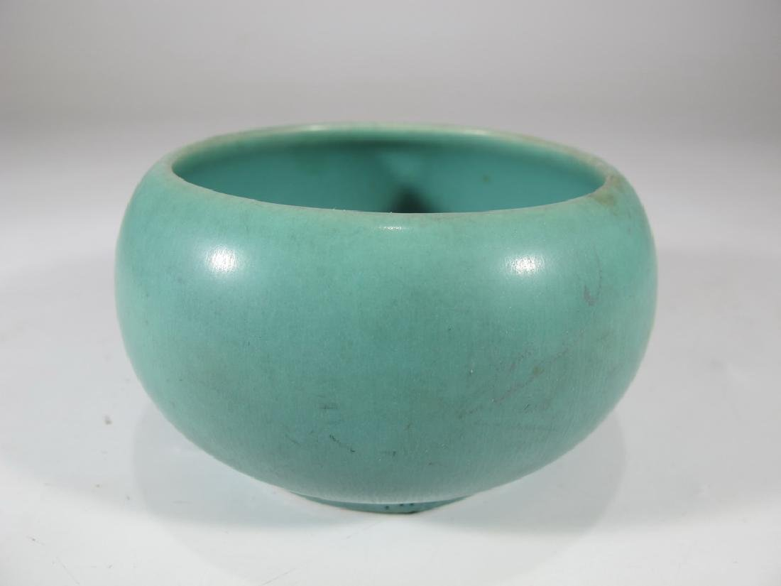 1964 green Rookwood pottery bowl