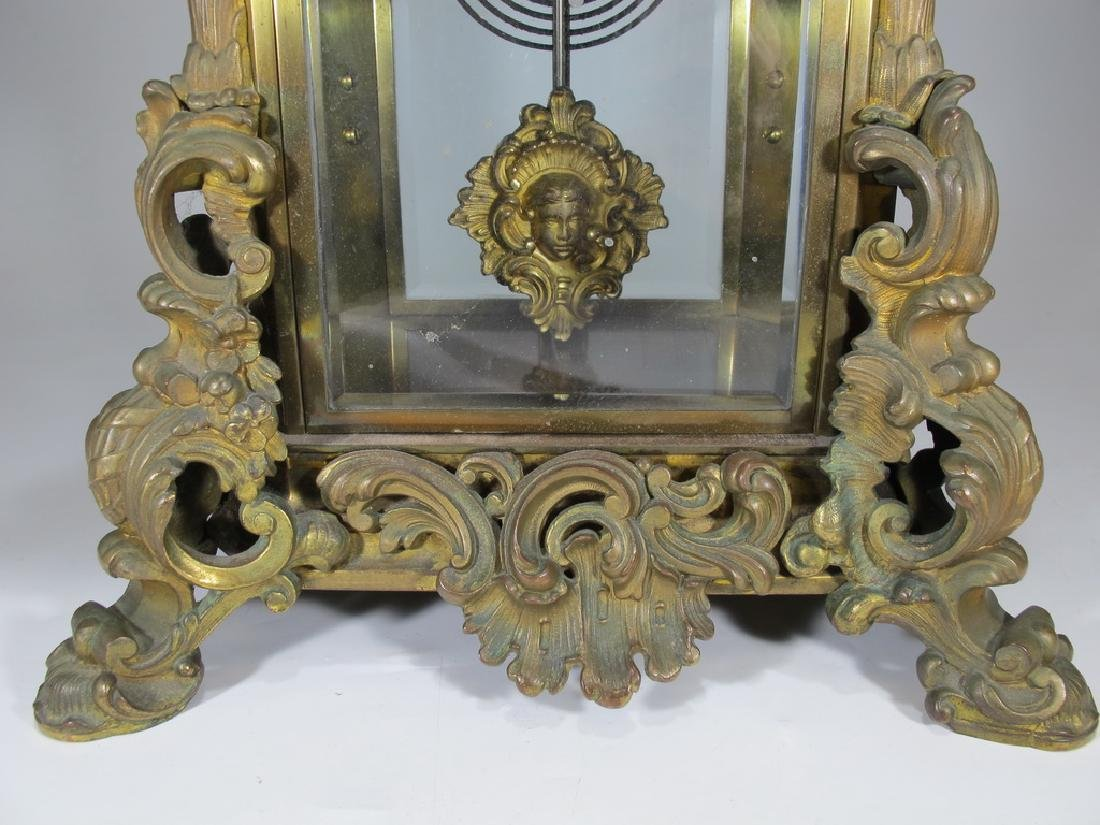 Antique Ansonia Apex crystal regulator model clock - 5