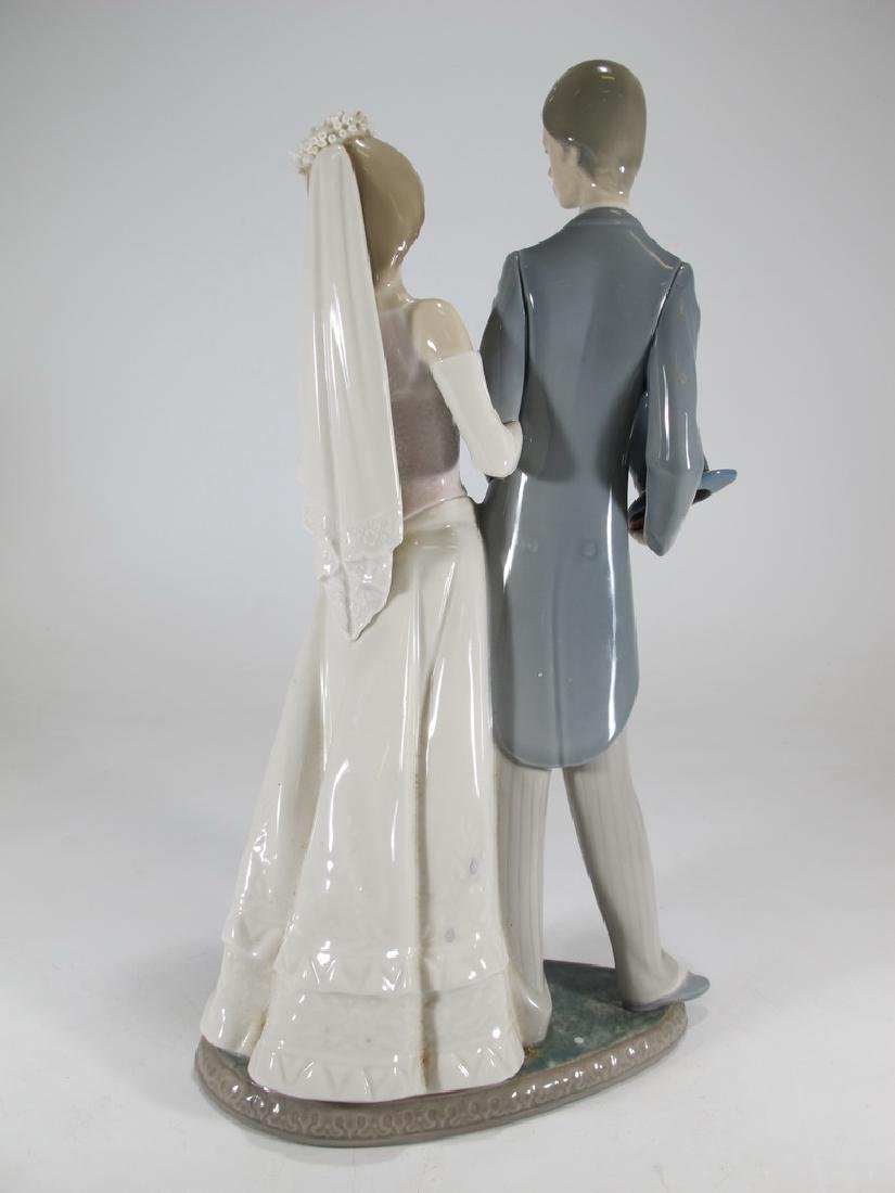 Lladro couple wedding porcelain statue - 5