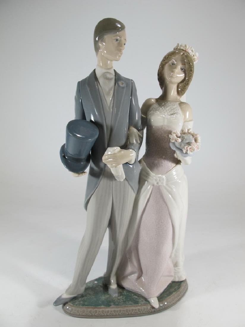 Lladro couple wedding porcelain statue - 8