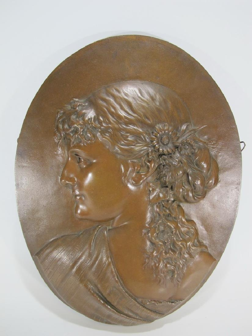 Léopold HARZE (1831-1893) French bronze plaque