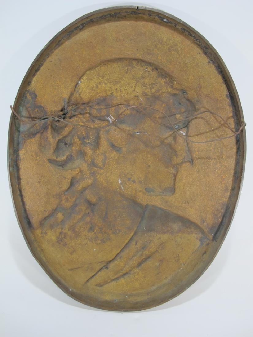 Léopold HARZE (1831-1893) French bronze plaque - 3