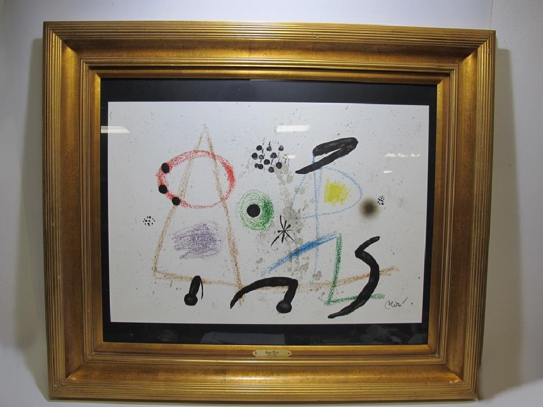 Signed Miro framed serigraph