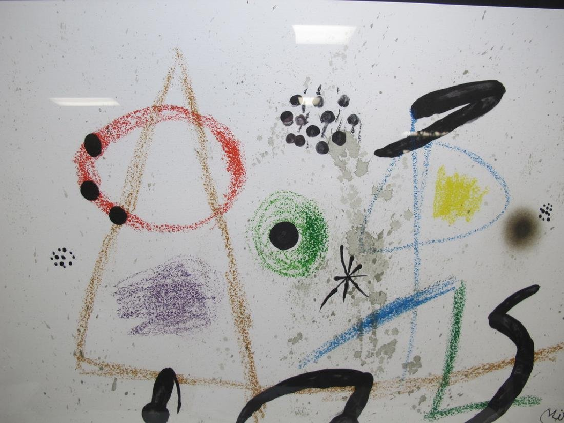 Signed Miro framed serigraph - 2