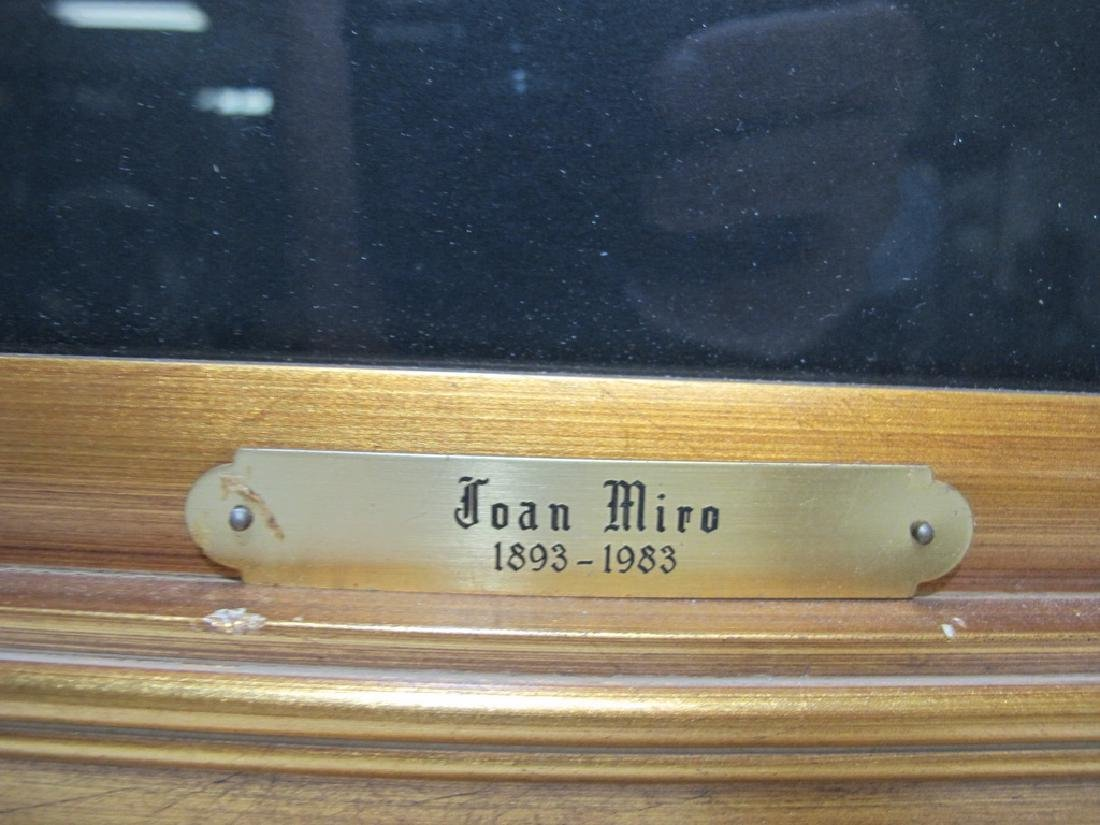 Signed Miro framed serigraph - 4