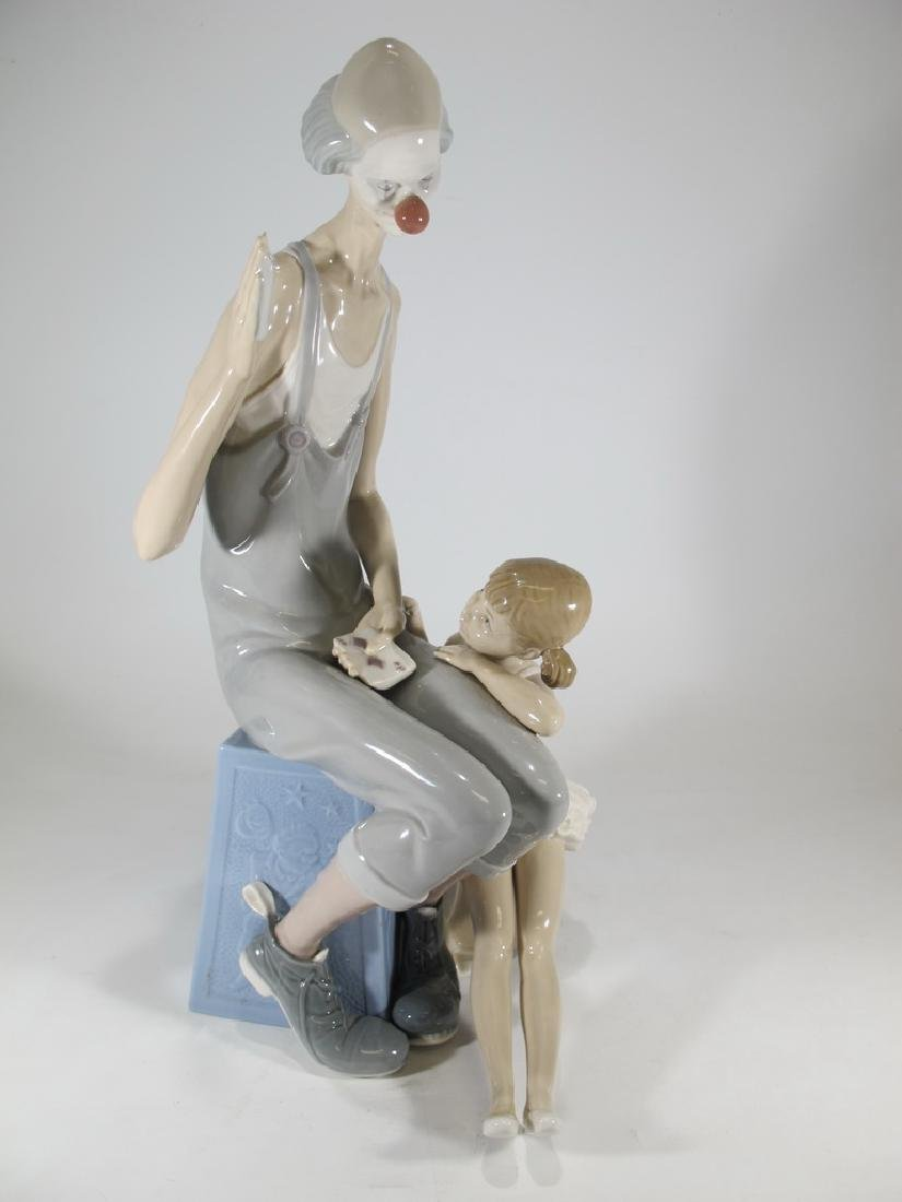 Lladro Circus Clown & Ballerina Porcelain Figurine