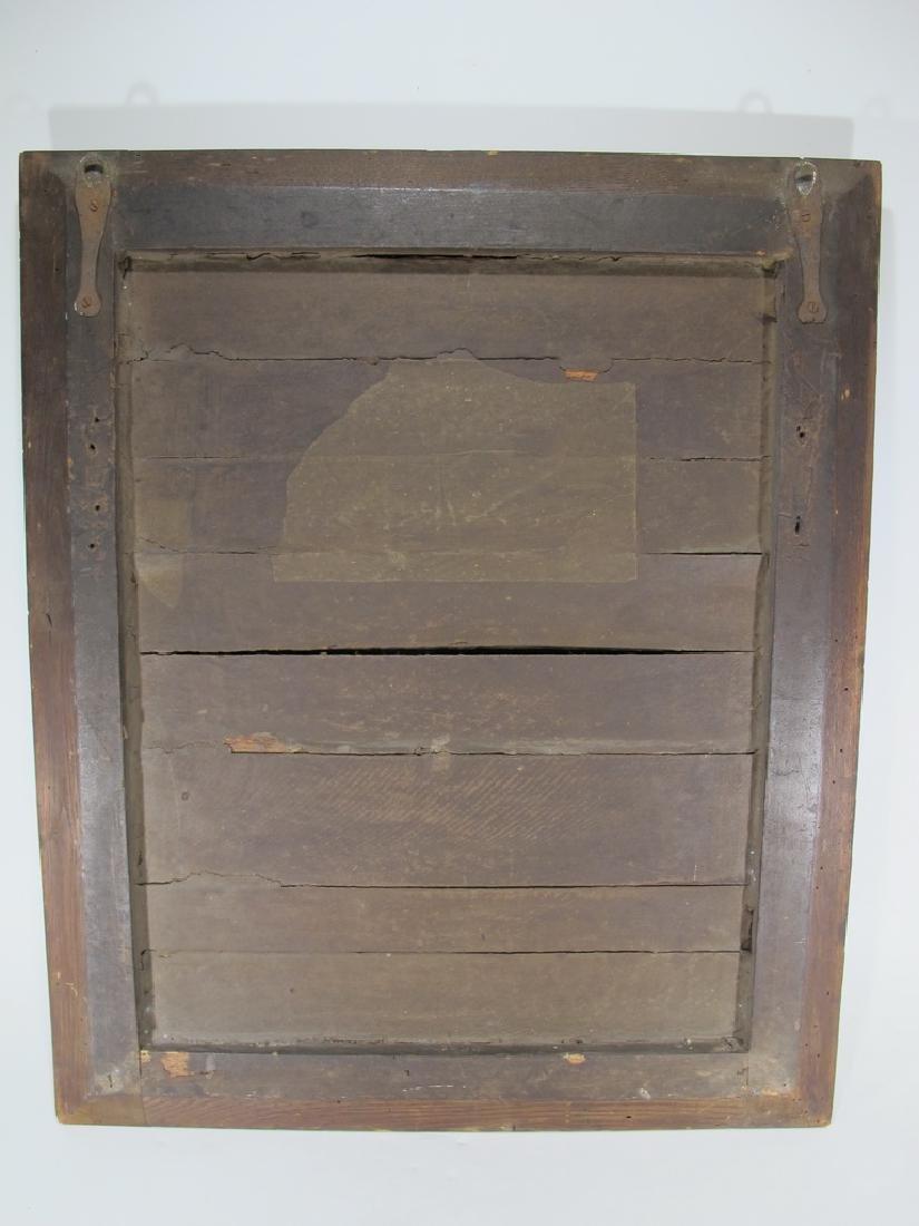 Antique Dutch inlay wood framed mirror - 5