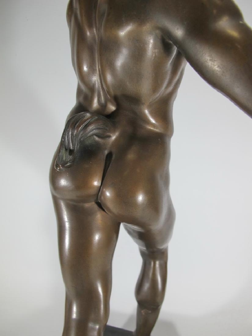 19th C Dancing Faun of Pompeii bronze sculpture - 10