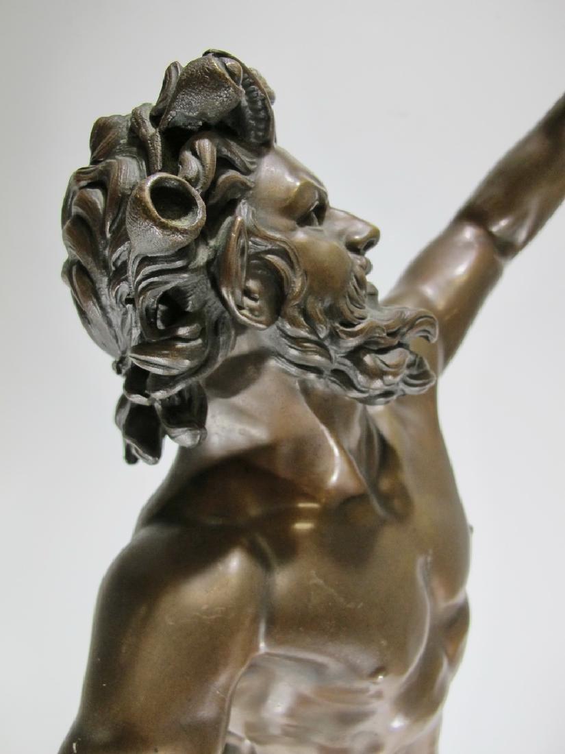 19th C Dancing Faun of Pompeii bronze sculpture - 13