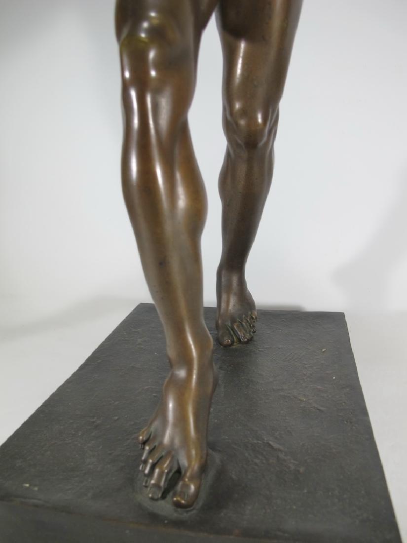 19th C Dancing Faun of Pompeii bronze sculpture - 5