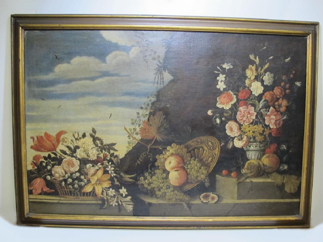 18th/19th C. European oil on canvas painting