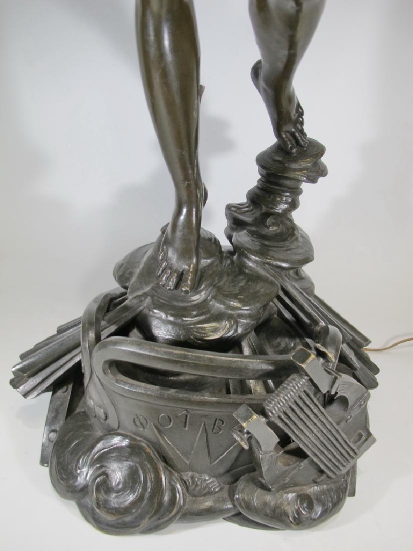 Hippolyte FERRAT (1822-1882) huge bronze sculpture lamp - 6