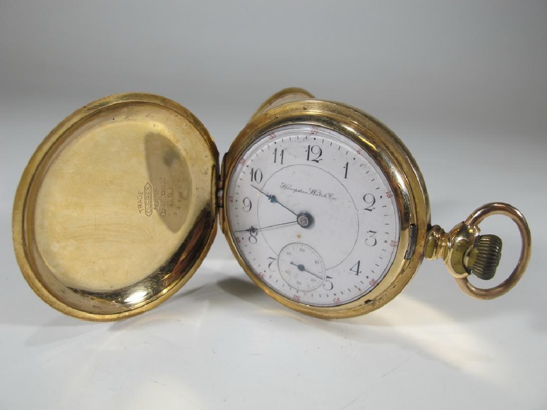 Hampden Watch & Co 14 k GF pocket watch