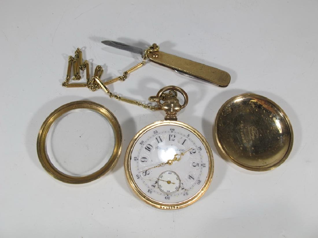 Vintage Elgin 14k GF pocket watch with a razor