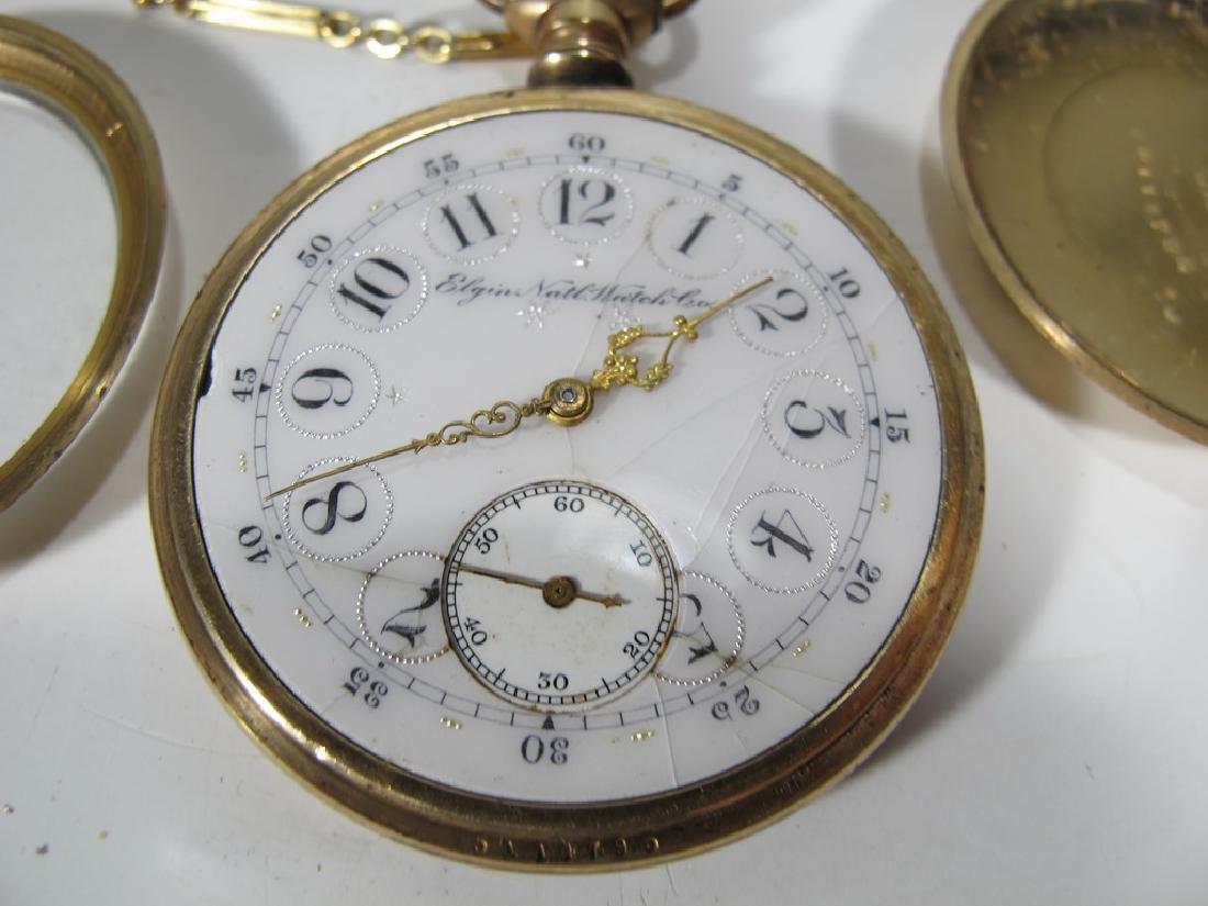 Vintage Elgin 14k GF pocket watch with a razor - 2