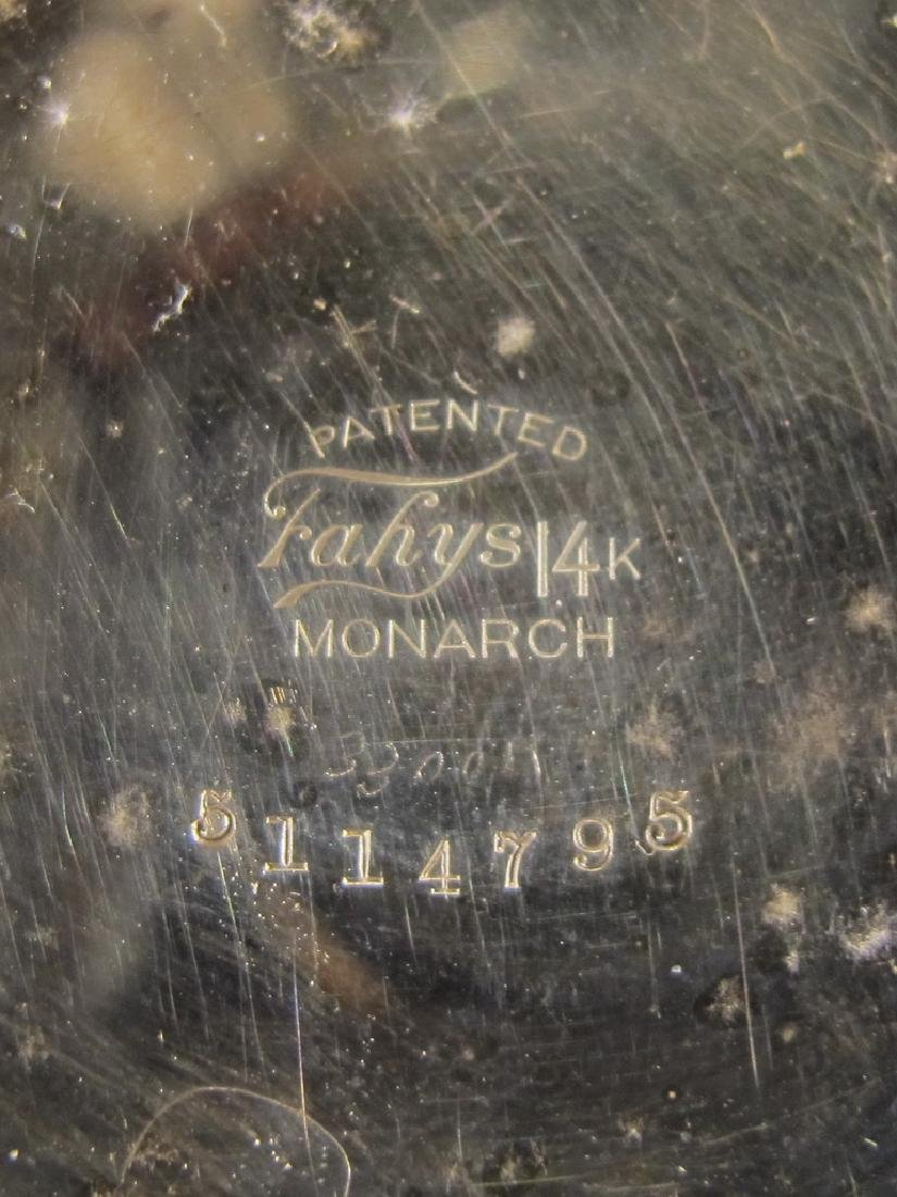 Vintage Elgin 14k GF pocket watch with a razor - 4