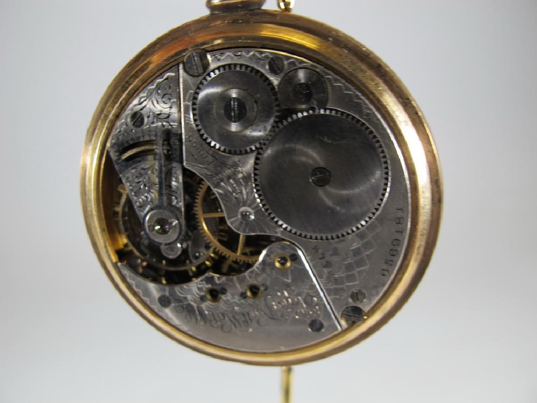 Vintage Elgin 14k GF pocket watch with a razor - 5