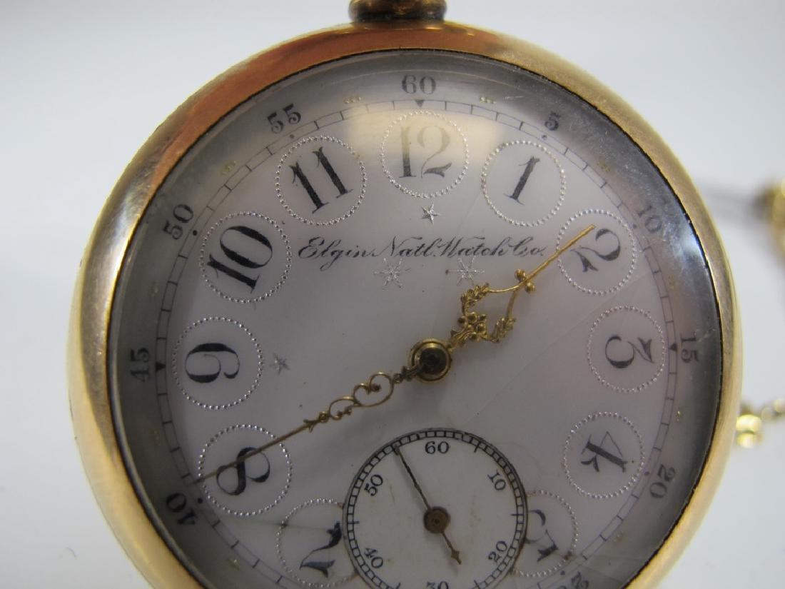 Vintage Elgin 14k GF pocket watch with a razor - 6