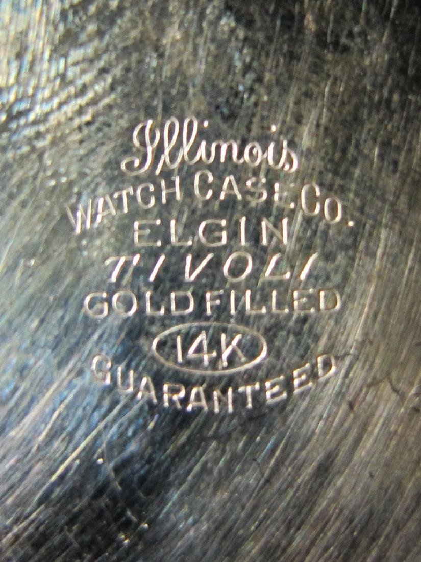 2 Elgin & Waltham 10k & 14k GF pocket watches - 6