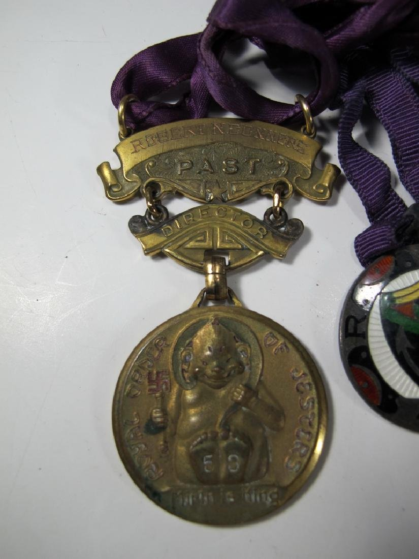 3 The Royal Order of Jesters bronze & enamel medals - 2
