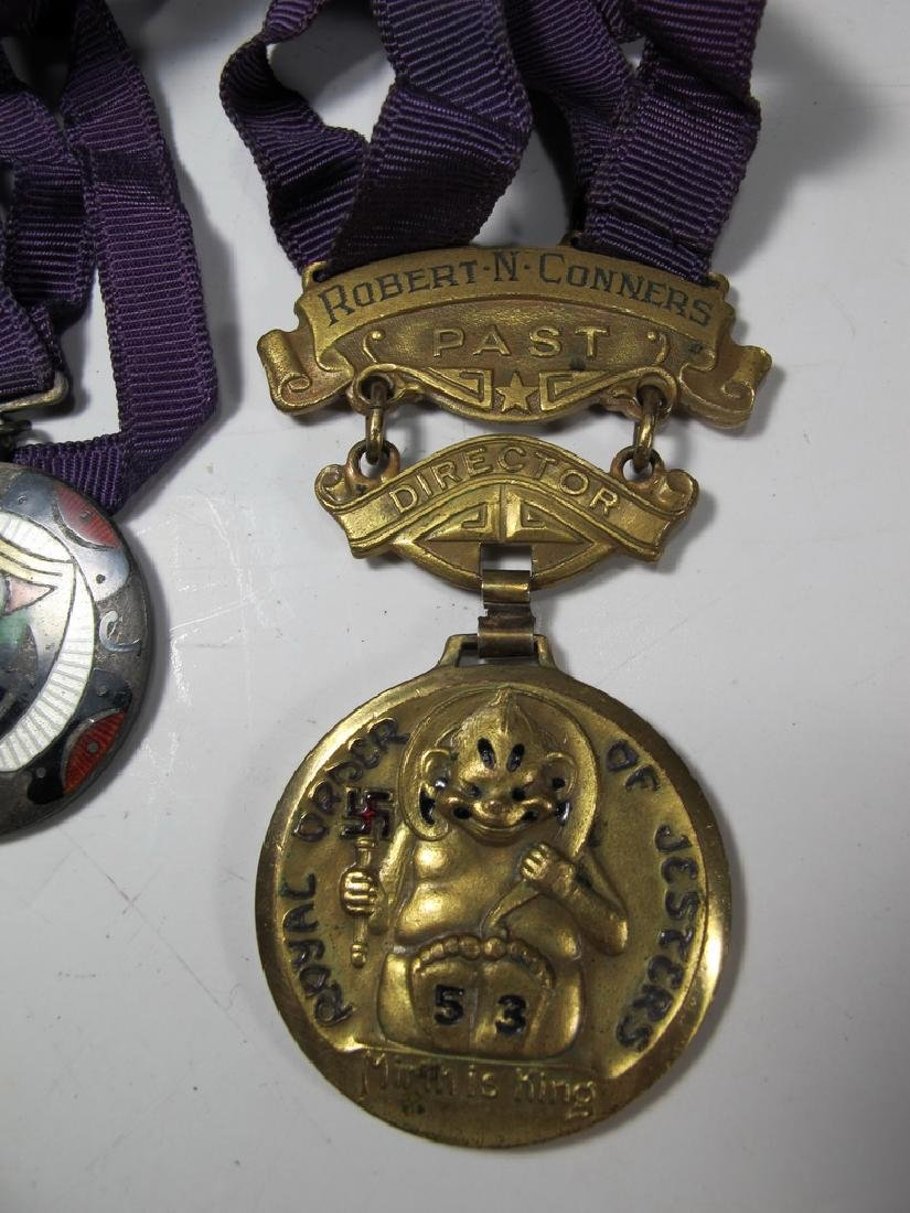 3 The Royal Order of Jesters bronze & enamel medals - 3