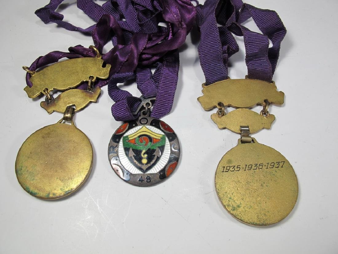 3 The Royal Order of Jesters bronze & enamel medals - 4