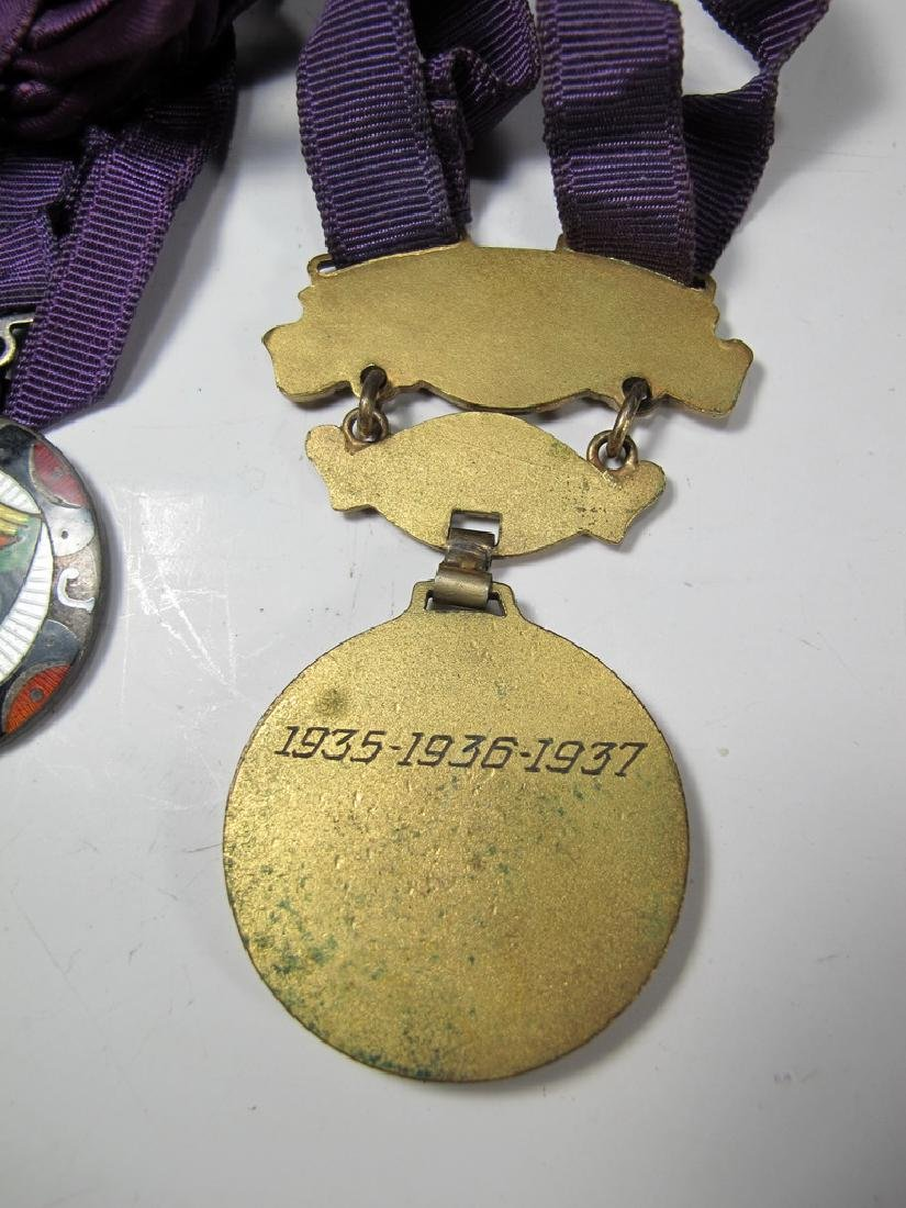 3 The Royal Order of Jesters bronze & enamel medals - 5