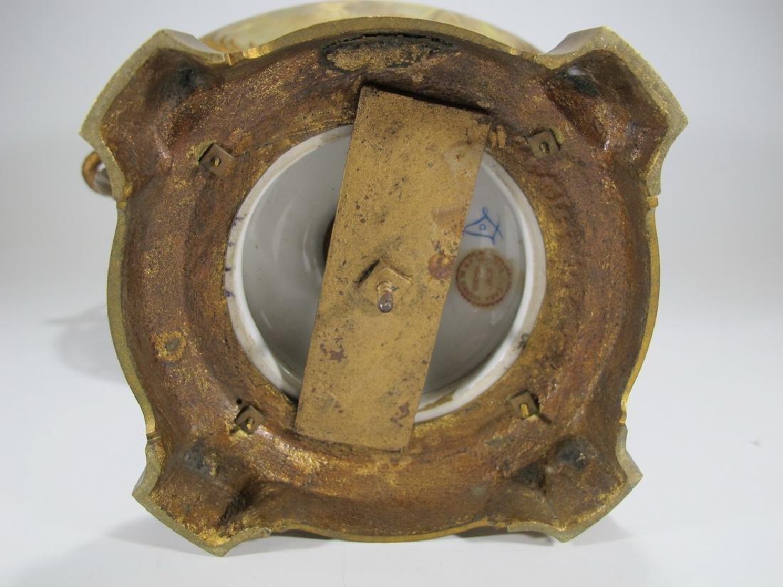 Antique French Sevres porcelain & bronze centerpiece - 10