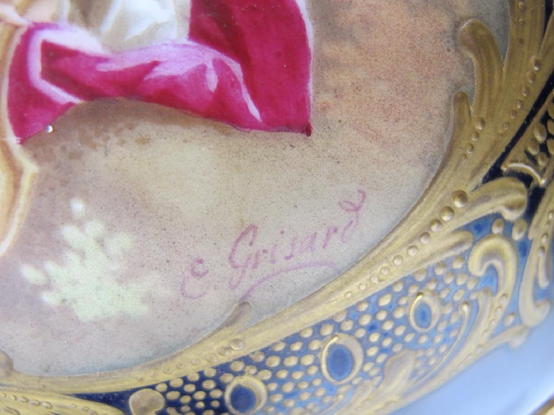 Antique French Sevres porcelain & bronze centerpiece - 5