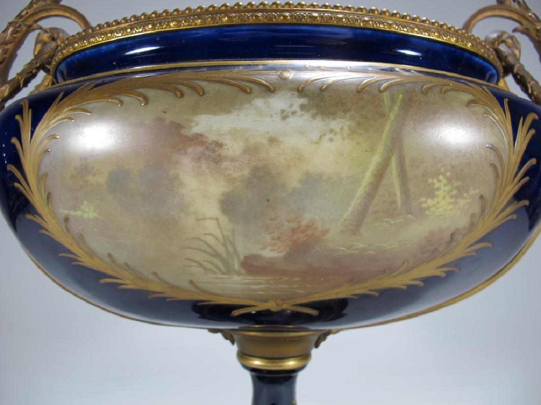 Antique French Sevres porcelain & bronze centerpiece - 8