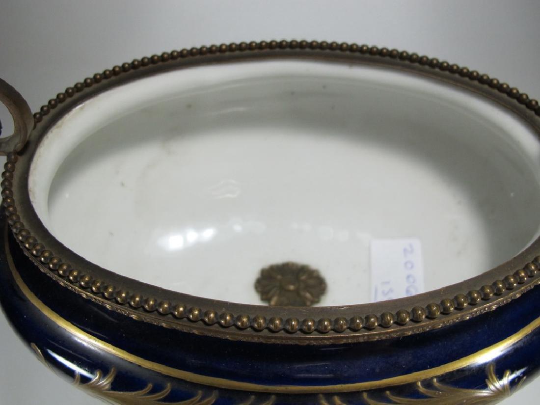Antique French Sevres porcelain & bronze centerpiece - 9