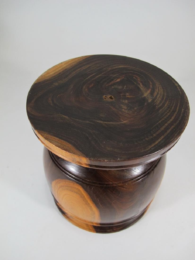 Vintage carved wood mortar - 5