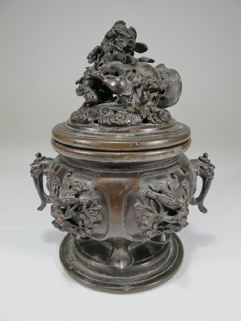 Antique Chinese bronze incense burner