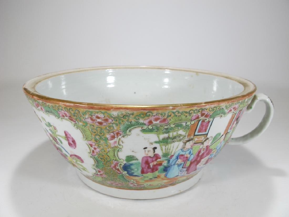 Antique Chinese Rose Medallon porcelain chamber pot