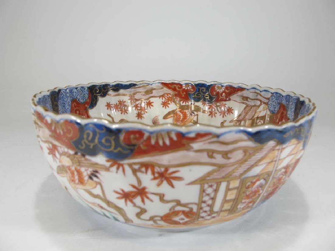 Antique Japanese Imari porcelain bowl