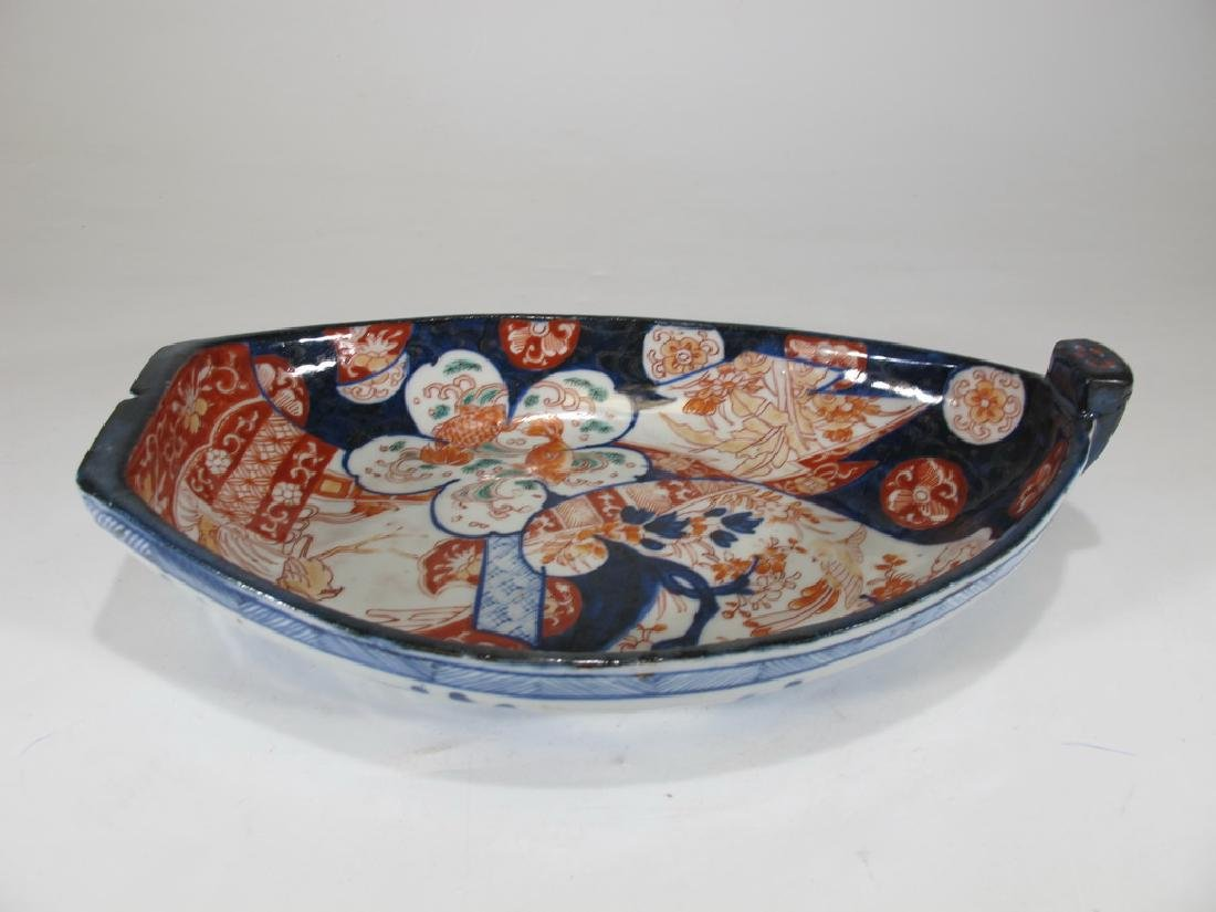 Antique Japanese Imari Meiji porcelain sauce boat