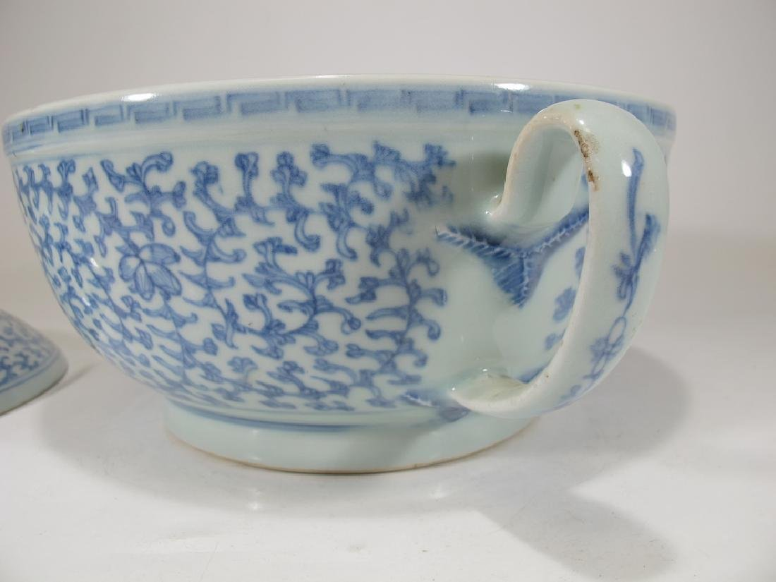 Antique Chinese porcelain lided chamber pot - 5