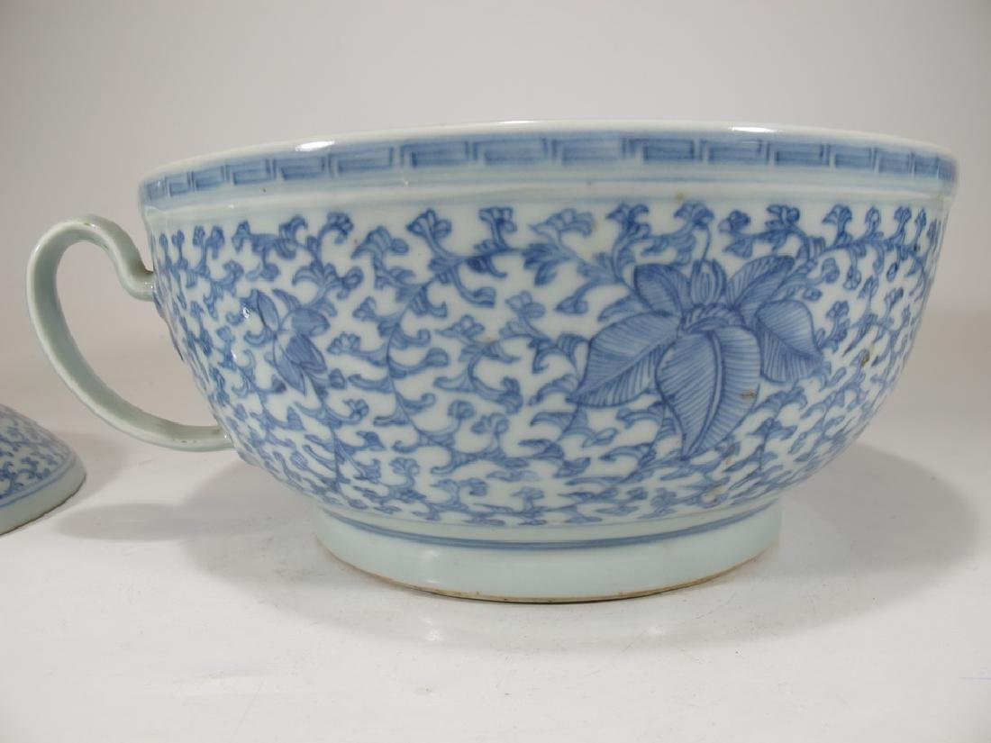 Antique Chinese porcelain lided chamber pot - 6