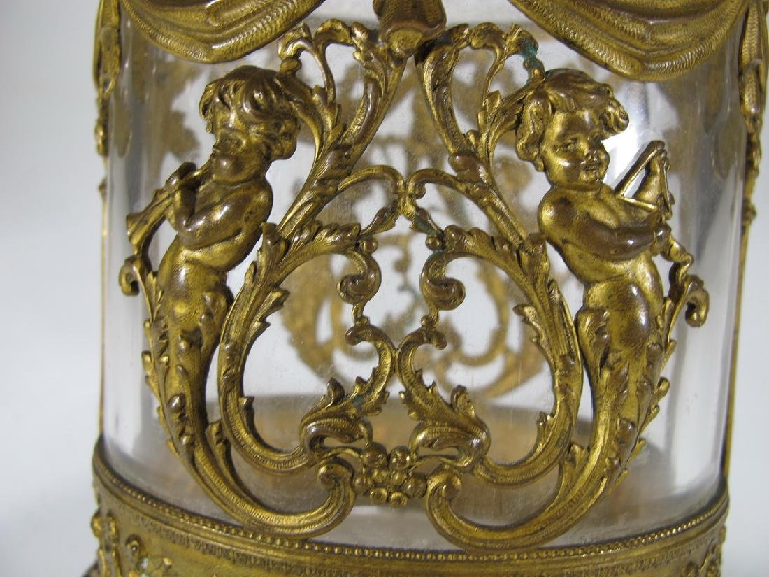 Antique Baccarat style bronze & crystal vase - 10